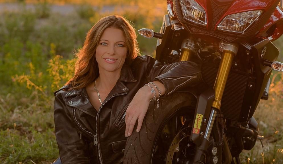 A Lady and Her Yamaha Motorcycle Photoshoot